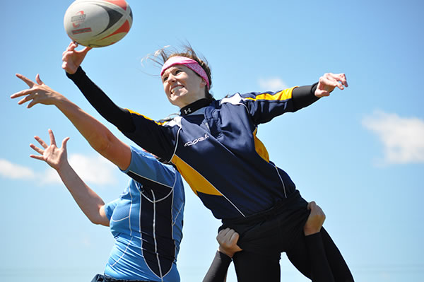 Chicago Women's Rugby Lineout Jump